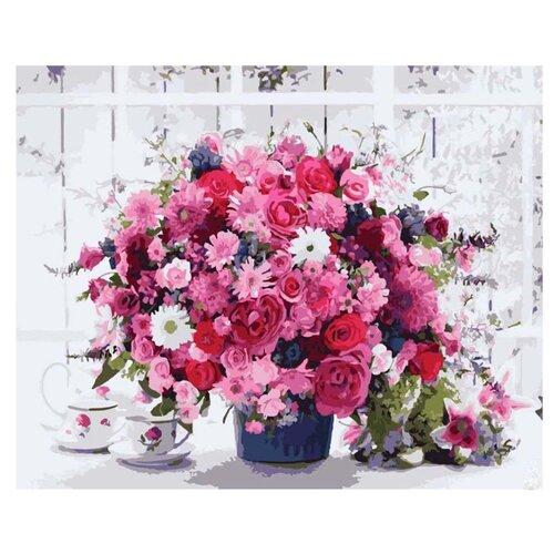 Купить Paintboy Картина по номерам Розовый букет 40х50 см (GX8069), Картины по номерам и контурам