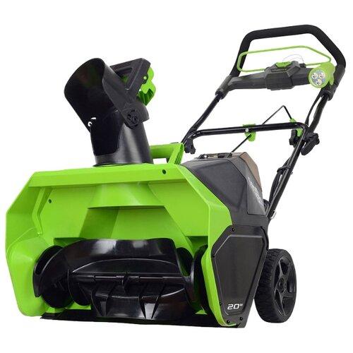 цена на Снегоуборщик аккумуляторный greenworks GD40 с аккумуляторoм 6 А.ч аккумулятор в комплекте