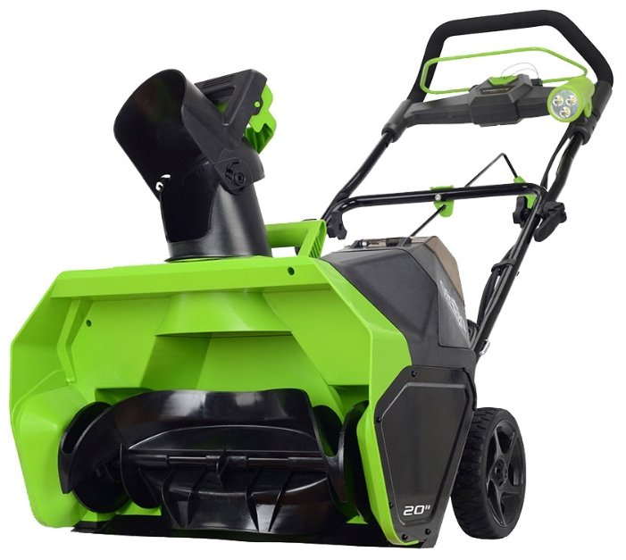 Снегоуборщик greenworks GD40STK6 2600007UF с аккумуляторoм 6 А.ч и зарядным устройством