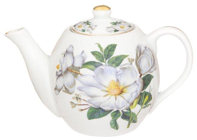 Купить Elan gallery Заварочный чайник 500 мл, Белый шиповник по низкой цене с доставкой из Яндекс.Маркета
