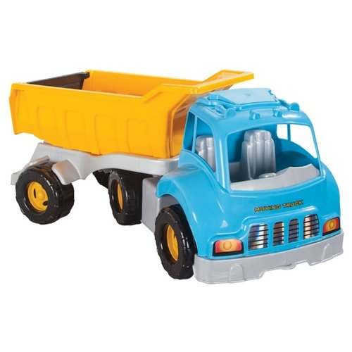 Купить Грузовик pilsan Moving Truck (06-602) 74.5 см голубой/желтый, Машинки и техника