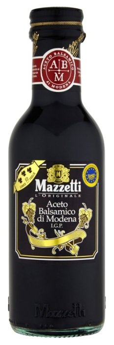 Уксус Mazzetti l'Originale бальзамический из Модены 3 листочка