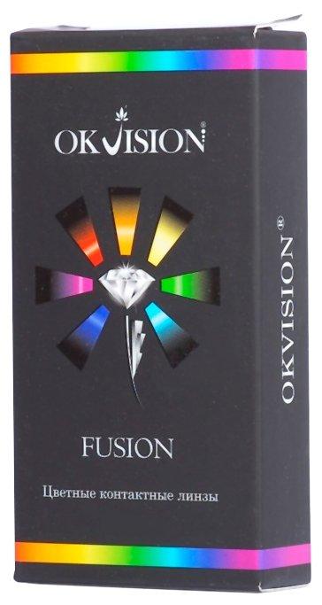 цветные линзы OKVision Fusion (2 линзы) 8.6 -8.5 Green-Yellow (Зелено-Желтый)