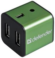 USB-концентратор Defender Quadro Iron (83506) разъемов: 4 зеленый