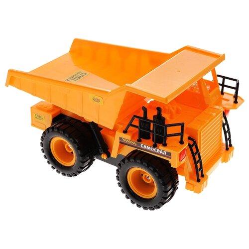 Купить Грузовик ABtoys Спецтехника C-00140(6807A) 1:22 30 см оранжевый, Радиоуправляемые игрушки