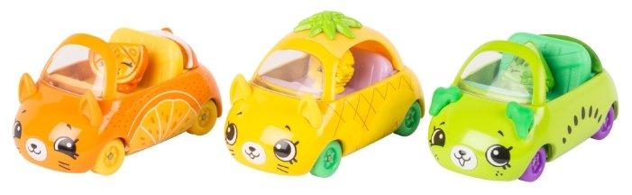 Игровой набор Moose Три машинки Shopkins Cutie Cars с фигурками Fast and Fruity 56642