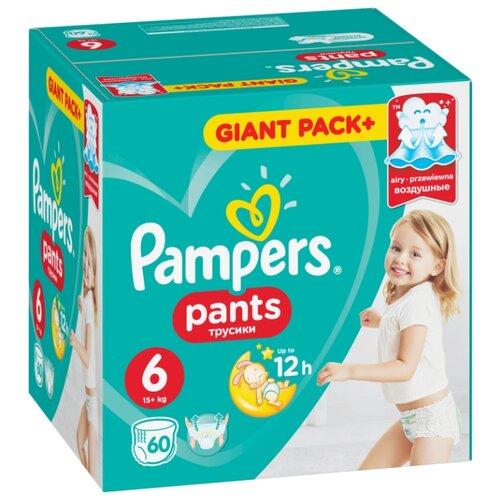 Купить Pampers трусики Pants 6 (15+ кг) 60 шт., Подгузники