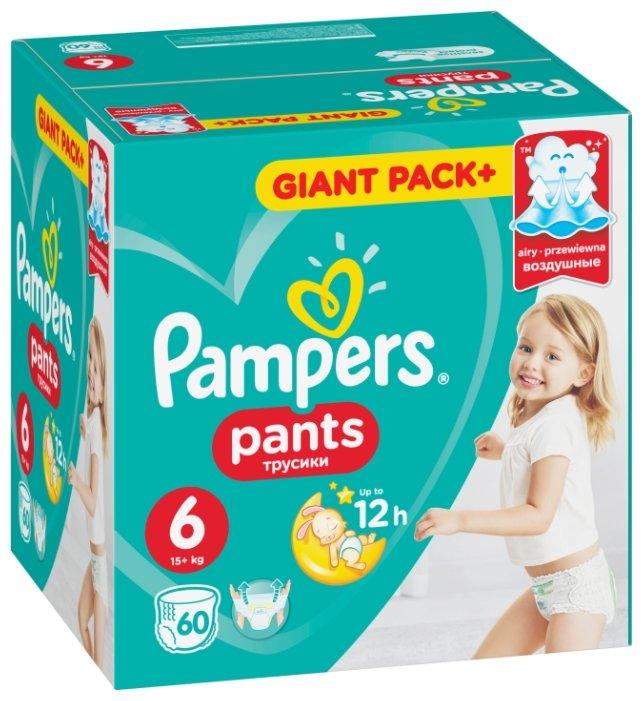 Трусики-подгузники Pampers Pants 6 Extra Large (от 15 кг) 60 шт.