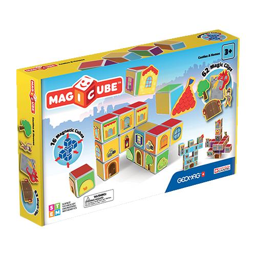 Купить Магнитный конструктор GEOMAG Magicube 144-16 Замки и дома, Конструкторы