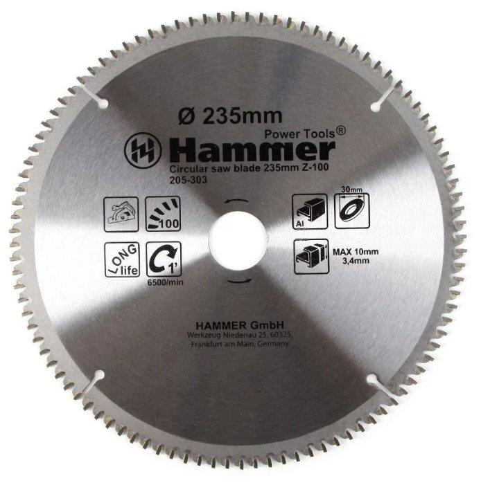 Пильный диск Hammer Flex 205-303 CSB AL 235х30 мм