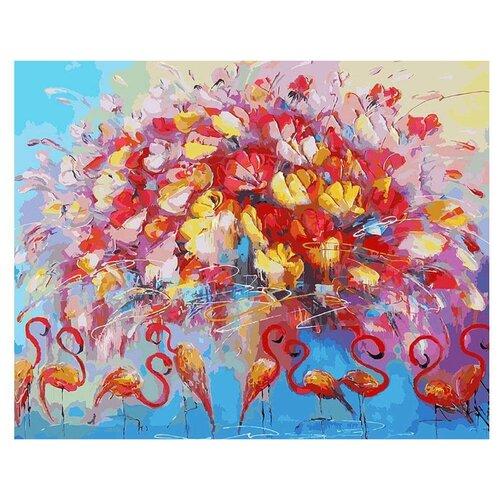 Купить Белоснежка Картина по номерам Танец красного фламинго 40х50 см (156-AB), Картины по номерам и контурам