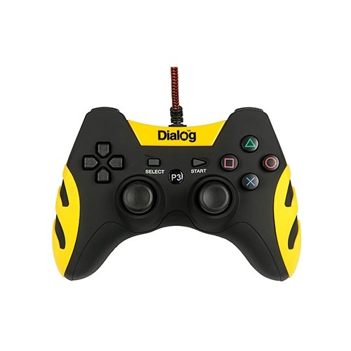 Геймпад Dialog GP-A21 черный/желтый