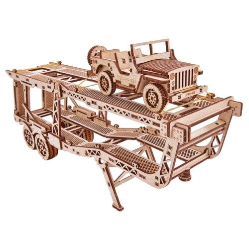 Сборная модель Wood Trick Прицеп Автовоз (1234-18)