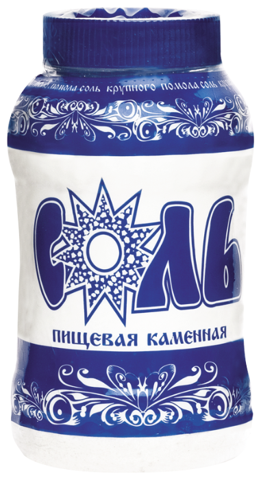 Зимушка-краса Соль каменная пищевая помол №1, пластиковая банка, 1000 г