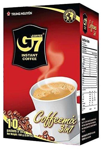 Растворимый кофе Trung Nguyen G7 3 в 1, в пакетиках — купить по выгодной цене на Яндекс.Маркете