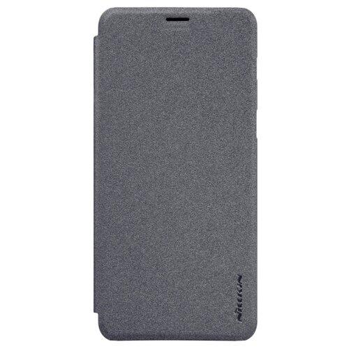 Чехол Nillkin Sparkle leather case A8 (2018) для Samsung Galaxy A8 (2018) серый цена 2017