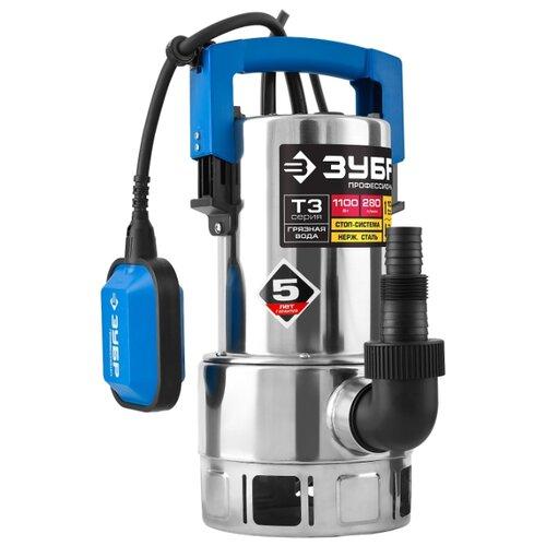 Дренажный насос ЗУБР НПГ-Т3-1100-С (1100 Вт) дренажный насос зубр нпг т3 900 900 вт