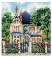 Сделай своими руками Набор для вышивания крестиком Загородный дом 16 х 17,5 см (З-36)