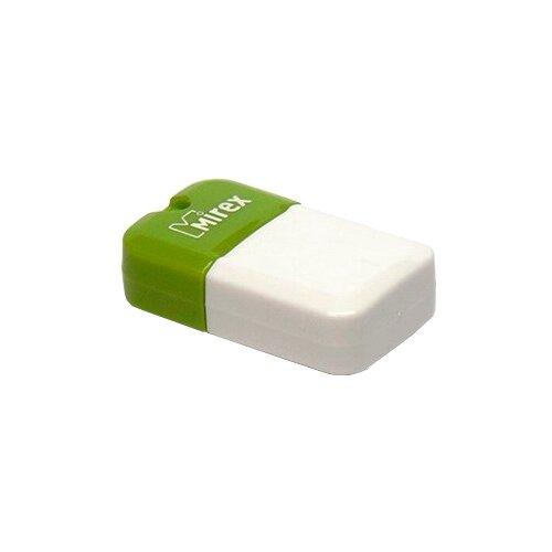 Фото - Флешка Mirex ARTON 16 GB, бело-зеленый флешка mirex mario 16 gb красный