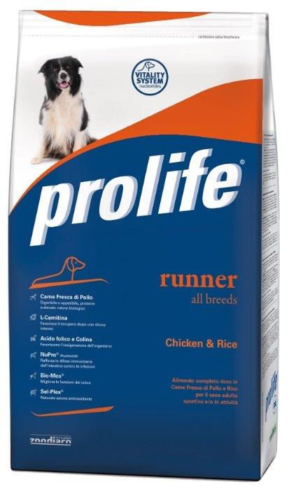 Корм для собак Prolife Adult All Breeds Runner с курицей и рисом