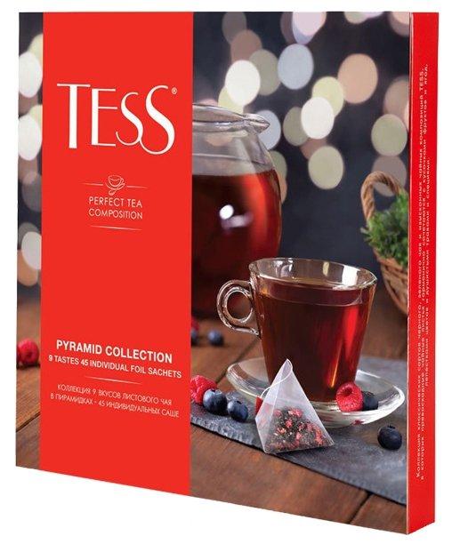 Tess Коллекция 9 вкусов листового чая в пирамидках, 45 шт