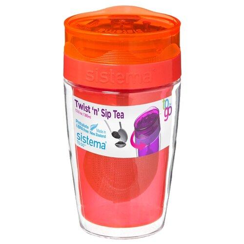 Термокружка Sistema Twist'n'Sip Tea To Go (0,37 л) orangeТермосы и термокружки<br>