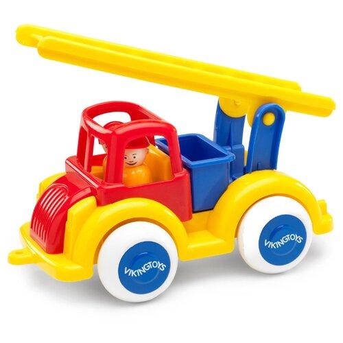 Пожарный автомобиль Viking Toys Jumbo (1251/ 701251) 25 см желтый/красный/синий