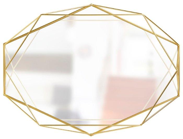 Umbra Зеркало настенное в прихожую, гостиную, спальню prisma 56 х 43 см, чёрное 358776-040