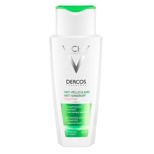 Vichy шампунь Dercos Anti-Dandruff Sensitive 200 мл продукция vichy официальный сайт