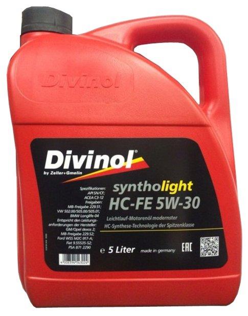 Моторное масло Divinol Syntholight HC-FE 5W-30 5 л