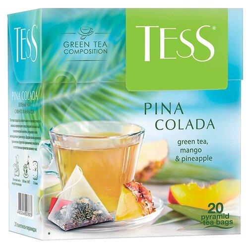 Чай зеленый Tess Pina colada в пирамидках , 36 г , 20 шт. чай черный lipton pina colada в