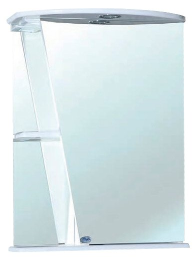 Зеркало Bellezza Бриз 55х72см белый, правый без рамы