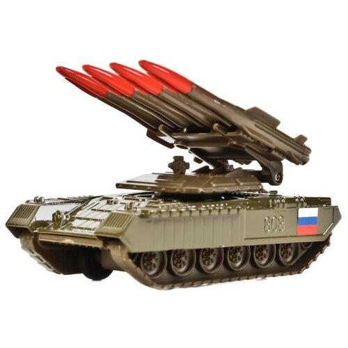 Купить Ракетная установка ТЕХНОПАРК SB-16-19-BUK-G-WB 12 см зеленый, Машинки и техника