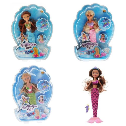 Кукла ABtoys Brilliance Fair Русалочка, с диадемой и подвеской в виде морского конька, 27 см, в ассортименте, 2400062Куклы и пупсы<br>