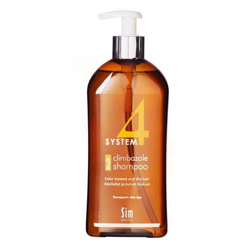Sim Sensitive SYSTEM 4 Climbazole Shampoo 2 Терапевтический шампунь № 2 для сухих, окрашенных и поврежденных волос 500 мл с дозаторомШампуни<br>