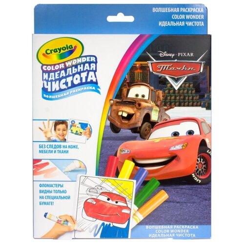 Crayola Раскраска с фломастерами Тачки Color Wonder (12787) цена 2017