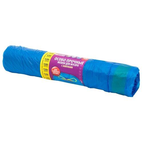 Мешки для мусора Paterra 106-059 120 л (10 шт.) синий мешки для мусора лайма комплект 5 упаковок по 30 шт 150 мешков 30 л черные в рулоне 30 шт пнд 8 мкм 50х60 см ±5
