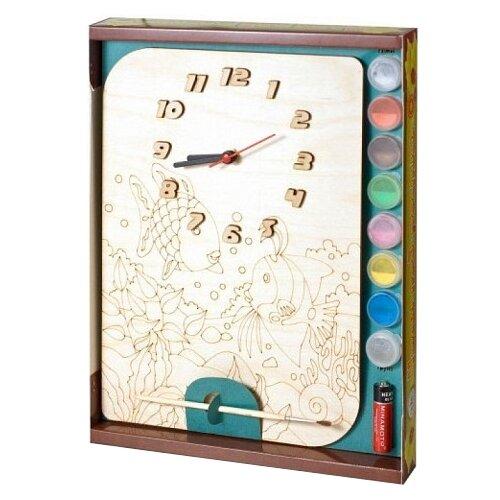 Нескучные игры Набор для росписи Часы с циферблатом Рыбки (ДНИ122) нескучные игры набор для росписи часы с циферблатом домик дни113