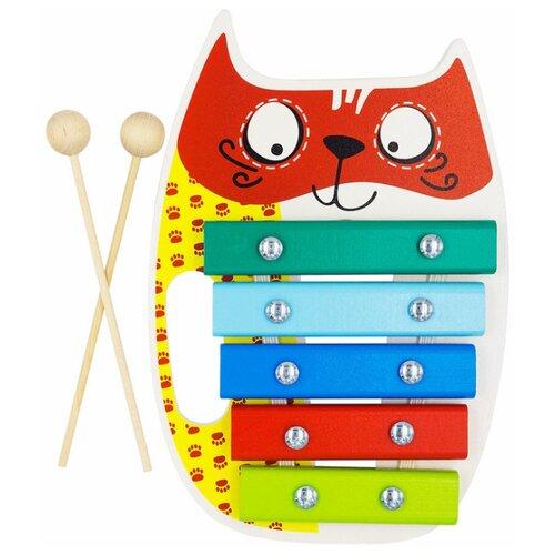 Купить Alatoys ксилофон Кот КС0501 разноцветный, Детские музыкальные инструменты
