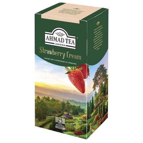 Чай черный Ahmad tea Strawberry cream в пакетиках, 25 шт.