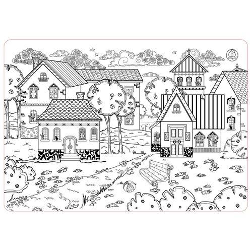 ЯиГрушка Коврик-раскраска Город (большой) коврик пазл феникс большой город 15 элементов