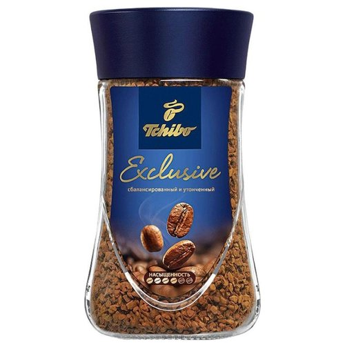 Кофе растворимый Tchibo Exclusive, стеклянная банка, 190 г tchibo exclusive decaf кофе растворимый 100 г