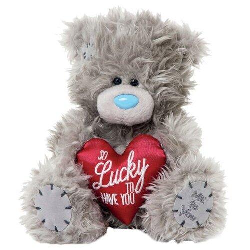 Мягкая игрушка Me to you Мишка Тедди с сердцем So lucky to have you 18 см