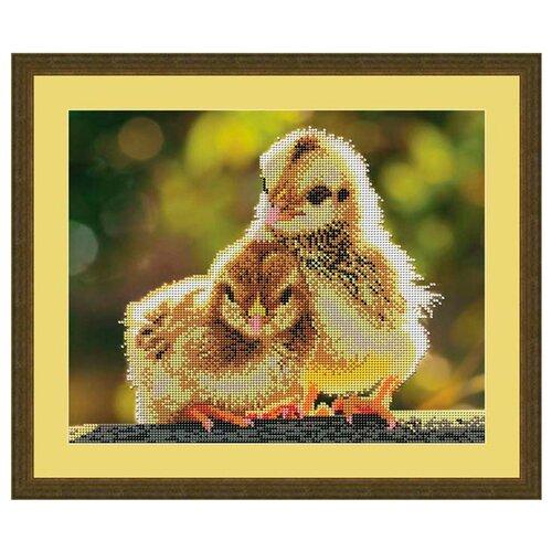 Купить Galla Collection Набор для вышивания бисером Цыплята 31 х 25 см (А406), Наборы для вышивания