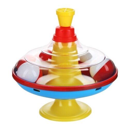 Юла-карусель Stellar большая с шариками (01320) желтый/голубой/красный игрушка chuc юла