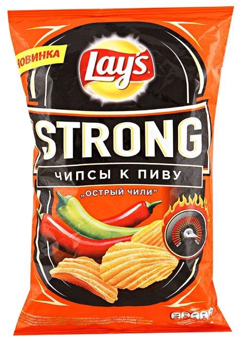 Чипсы Lay's Strong картофельные Острый чили рифленые