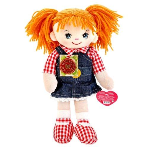 Мягкая игрушка Мульти-Пульти Мягкая кукла рыжая в джинсовом сарафане 35 см мягкая игрушка мульти пульти мягкая кукла 5 песенок и 2 стихотворения а барто 45 см