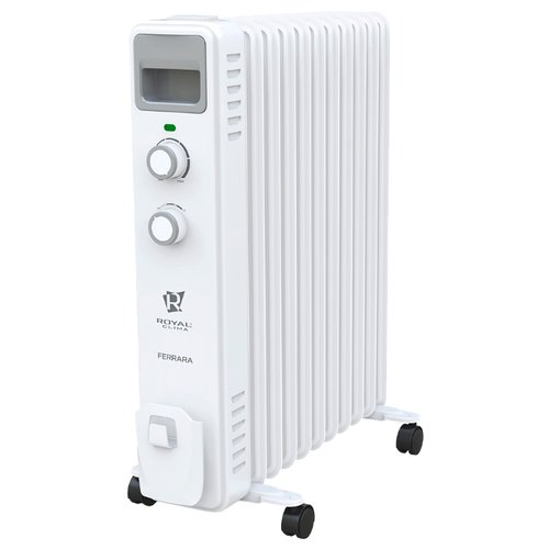 Масляный радиатор Royal Clima ROR-F11-2500M Ferrara белый