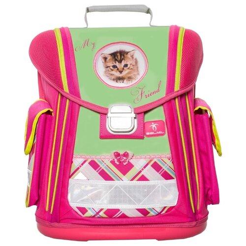 Belmil Ранец Sporty Cats (404-5/437), салатовый/розовый