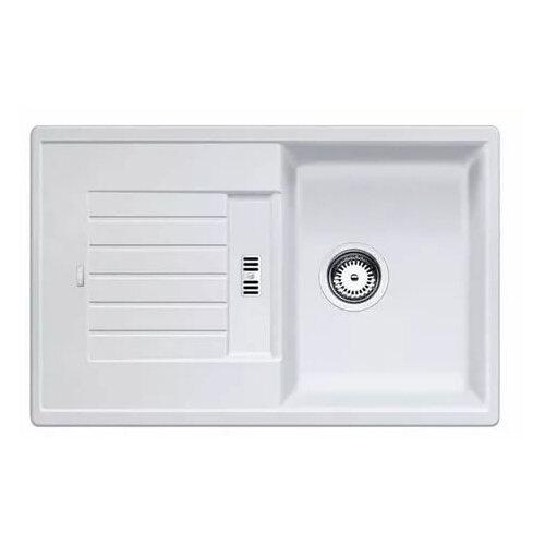 Врезная кухонная мойка 78 см Blanco Zia 45S Silgranit PuraDur белая врезная кухонная мойка 78 см blanco zia 45s silgranit puradur антрацит